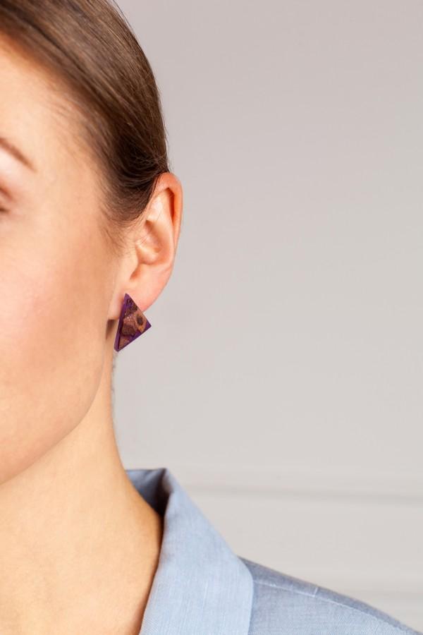 TRIANGLE AMETHYST PURPLE earrings