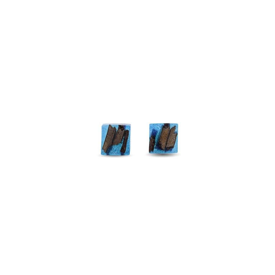 QUADRATIC CLASSIC BLUE earrings