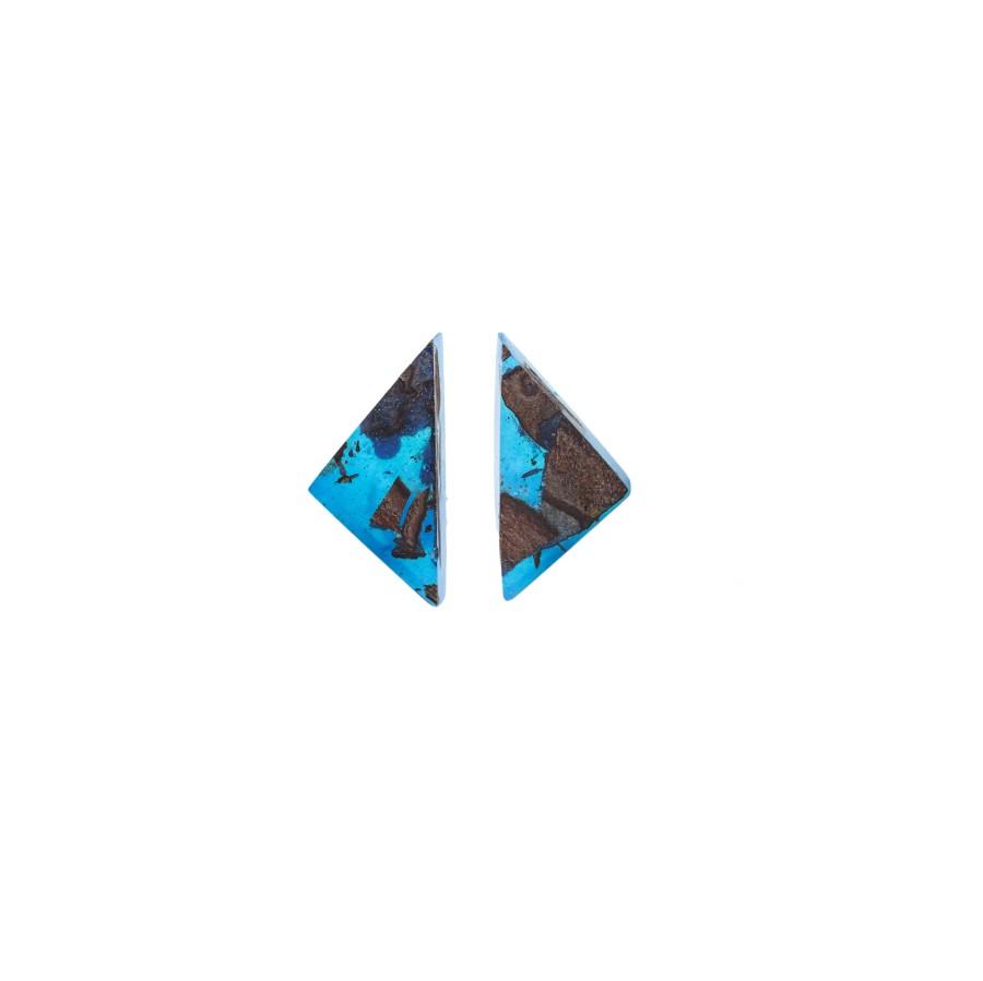TRIANGLE CLASSIC BLUE earrings